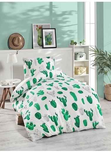 Eponj Home Junior Nevresim Seti Tek Kişilik Kaktüs Yeşil Yeşil